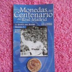 Coleccionismo deportivo: MONEDAS DEL CENTENARIO DEL REAL MADRID 5 1902 2002 DIARIO MARCA SON LAS DEL EXPOSITOR. Lote 95001859