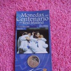Coleccionismo deportivo: MONEDAS DEL CENTENARIO DEL REAL MADRID 7 1902 2002 DIARIO MARCA SON LAS DEL EXPOSITOR. Lote 95002499