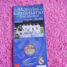 Coleccionismo deportivo: MONEDAS DEL CENTENARIO DEL REAL MADRID 8 1902 2002 DIARIO MARCA SON LAS DEL EXPOSITOR. Lote 95002799