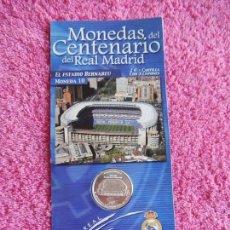 Coleccionismo deportivo: MONEDAS DEL CENTENARIO DEL REAL MADRID 10 1902 2002 DIARIO MARCA SON LAS DEL EXPOSITOR. Lote 95003011