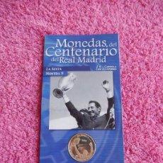 Coleccionismo deportivo: MONEDAS DEL CENTENARIO DEL REAL MADRID 9 1902 2002 DIARIO MARCA SON LAS DEL EXPOSITOR. Lote 95003183