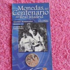 Coleccionismo deportivo: MONEDAS DEL CENTENARIO DEL REAL MADRID 1902 2002 DIARIO MARCA SON LAS DEL EXPOSITOR. Lote 95003351