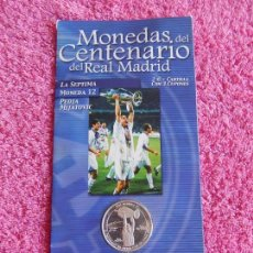 Coleccionismo deportivo: MONEDAS DEL CENTENARIO DEL REAL MADRID 12 1902 2002 DIARIO MARCA SON LAS DEL EXPOSITOR. Lote 95003595