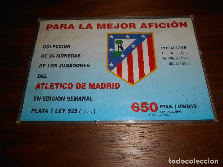 Coleccionismo deportivo: COLECCIÓN NO COMPLETA 22 MONEDAS DE PLATA DEL DOBLETE DEL ATLÉTICO DE MADRID 1995 1996 RARAS - Foto 2 - 95781239
