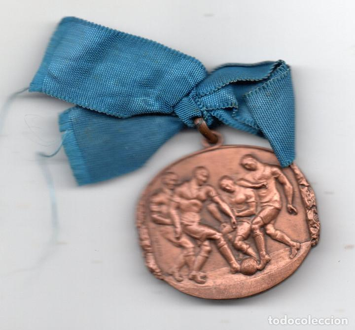 MEDALLA DE FÚTBOL EN COBRE.VALLMITJANA (Coleccionismo Deportivo - Medallas, Monedas y Trofeos de Fútbol)