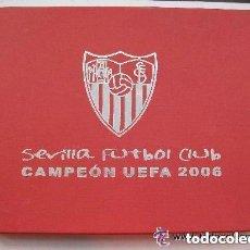 Coleccionismo deportivo: SEVILLA F. C. , CAMPEON UEFA 2006 . CAJA PARA LA COLECCION DE MEDALLAS CONMEMORATIVAS.. Lote 98097983
