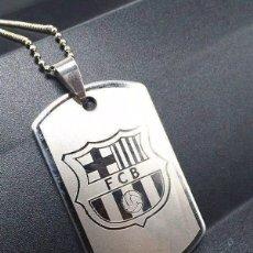Coleccionismo deportivo: COLGANTE / F.C. BARCELONA / (CADENA INCLUIDA) / EN ACERO. Lote 98947123