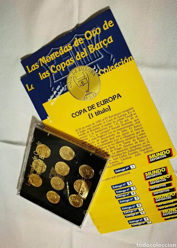 Las monedas de oro de las copas del barça bañad - Vendido en Venta ... 1d230151751