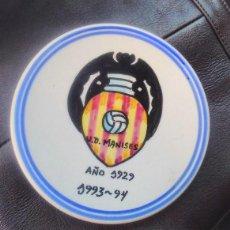 Coleccionismo deportivo: UNIÓN DEPORTIVA MANISES AÑO 1929 - 1993- 94 PLATO DE CERÁMICA DE LA UNIÓN DEPORTIVA FÚTBOL VALENCIA. Lote 99516683