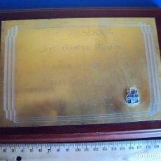 Coleccionismo deportivo: (F-171063)PLACA A GUSTAU BIOSCA C.F.BARCELONA DE C.F.CORBERA. Lote 101083467