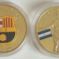 Coleccionismo deportivo: MEDALLA LIONEL MESSI. 10. FÚTBOL CLUB BARCELONA, CATALUÑA, ESPAÑA. ARGENTINA. Lote 133405791