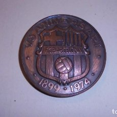 Coleccionismo deportivo: F,C.BARCELONA - MEDALLA 75 ANIVERSARI - 1899.1974 ( BARCA75) 6 CM. . Lote 104026991