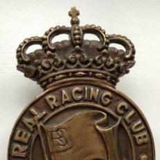 Coleccionismo deportivo: GRAN ESCUDO DE BRONCE DEL REAL RACING CLUB DE SANTANDER - FÚTBOL . Lote 104429323