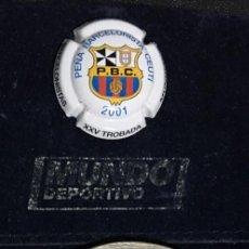 Coleccionismo deportivo: MEDALLA Y PLACA CAVA TROBADA MUNDIAL PEÑAS 2001-FUTBOL CLUB BARCELONA. Lote 104622579