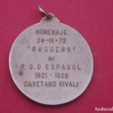 Coleccionismo deportivo: CURIOSA MEDALLA ANTIGUA CLUB DEPORTIVO ESPAÑOL.. Lote 112176927