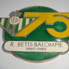 Coleccionismo deportivo: (TC-110) INTERESANTE PISAPAPELES OFICIAL ANIVERSARIO R. BETIS BALOMPIE 1907 - 1982 75 AÑOS. Lote 112782775
