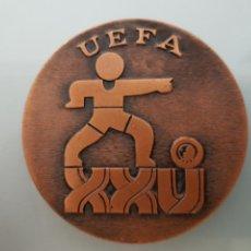 Coleccionismo deportivo: MEDALLA UEFA 25 TORNEO INTERN. FÚTBOL JUVENIL ESPAÑA 1972 66GR 5CM DIAM.. Lote 112839068