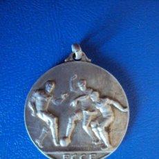 Coleccionismo deportivo: (F-180328)MEDALLA PLATA FEDERACION CATALANA CLUBS FOOT-BALL - 1914-15. Lote 114340175