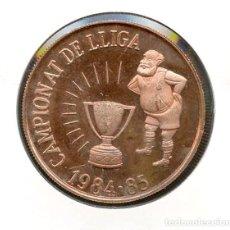 Coleccionismo deportivo: FÚTBOL, MEDALLA, F.C. BARCELONA, CAMPIONAT DE LLIGA 1984-1985. Lote 115332719