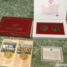 Coleccionismo deportivo: ALEMANIA - BRASIL MONEDAS MUNDIALES ESPAÑA 82 DANONE. Lote 116872835