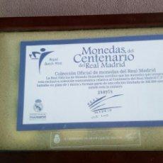 Coleccionismo deportivo: MONEDAS DEL CENTENARIO DEL REAL MADRID/MIDEDAS BAÑADAS EN PLATA /EDICION LIMITADA. Lote 119525491