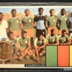 Coleccionismo deportivo: ESPAÑA MUNDIAL DE FUTBOL 1982 CAMEROUN CARNET 11X7CM MONEDA OFICIAL Y PARTIDOS. Lote 119722891