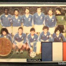 Coleccionismo deportivo: ESPAÑA MUNDIAL DE FUTBOL 1982 FRANCIA CARNET 11X7CM MONEDA OFICIAL Y PARTIDOS. Lote 119723319