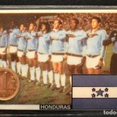 Coleccionismo deportivo: ESPAÑA MUNDIAL DE FUTBOL 1982 HONDURAS CARNET 11X7CM MONEDA OFICIAL Y PARTIDOS. Lote 119723591