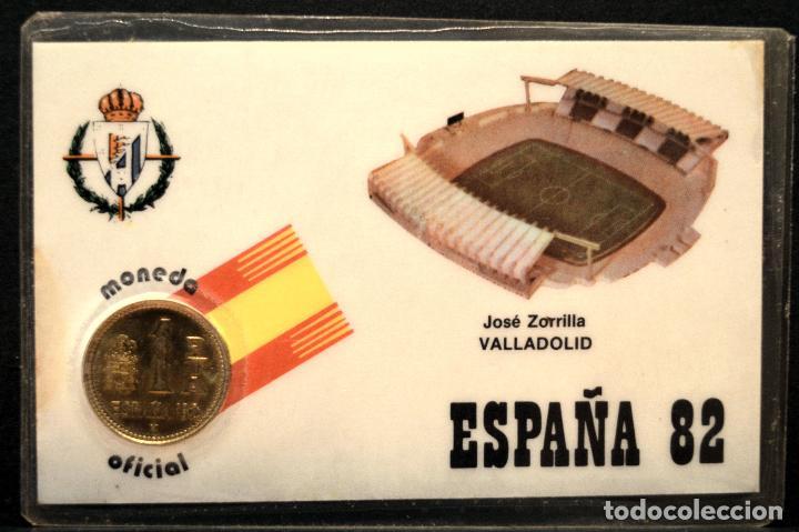 Coleccionismo deportivo: ESPAÑA MUNDIAL DE FUTBOL 1982 VALLADOLID ESTADIO JOSÉ ZORRILLA CARNET 11X7CM MONEDA OFICIAL - Foto 3 - 119724227