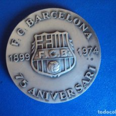 Coleccionismo deportivo: (F-180533)MEDALLA DEL F.C.BARCELONA EN PLATA - 75 ANIVERSARIO - VALLMITJANA. Lote 120937079