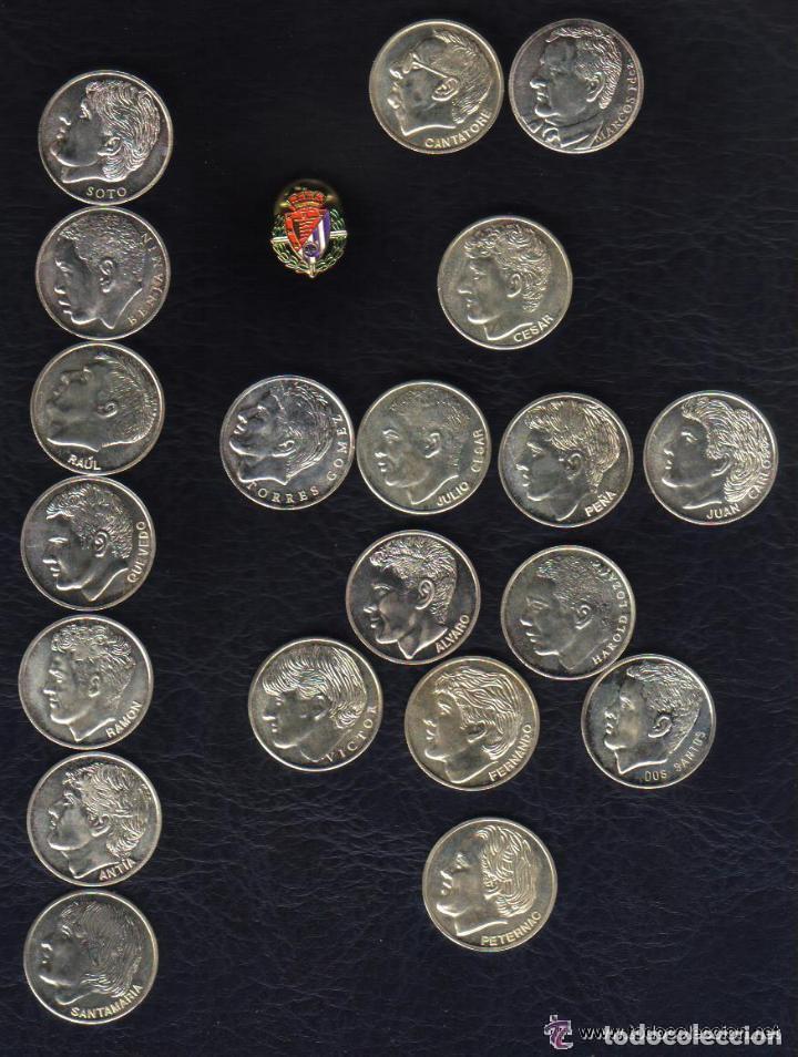 COLECCION MONEDAS PLATA DEL REAL VALLADOLID 1996-97 - 20 MONEDAS (PESO TOTAL 102 GRAMOS) + 1 PIN (Coleccionismo Deportivo - Medallas, Monedas y Trofeos de Fútbol)