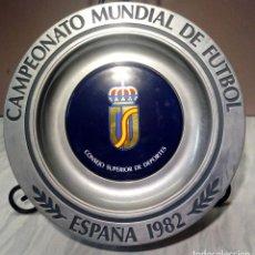 Coleccionismo deportivo: PLATO PARA COLGAR METAL Y CERAMICA - CAMPEONATO MUNDIAL ESPAÑA 82 - CONSEJO SUPERIOR DE DEPORTE -. Lote 122741631