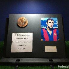 Coleccionismo deportivo: CARLOS REXACH. BARCELONA C.F. MEDALLA GANADOR ABSOLUTO V CHALLENGE DICEN.... Lote 125038151