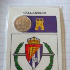 Coleccionismo deportivo: TARJETA PLASTIFICADA MUNDIAL 82 CON 1 PESETA. REAL VALLADOLID. Lote 126100504