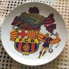 Coleccionismo deportivo: PLATO OFICIAL FCB FUTBOL CLUB BARCELONA BARÇA 95 1995 KREATEN 22CM DIAMETRO 3 HONDO. Lote 127461479
