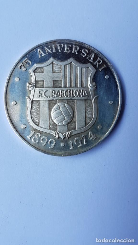 MEDALLA PLATA FINA BARÇA 75 - 75 ANIVERSARI 1899 - 1974 FUTBOL CLUB BARCELONA. FUTBOL (Coleccionismo Deportivo - Medallas, Monedas y Trofeos de Fútbol)