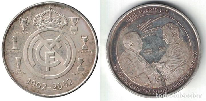 MEDALLA MONEDA REAL MADRID FIGURAS HISTORICAS - 1902-2002. - MONEDA-133 (Coleccionismo Deportivo - Medallas, Monedas y Trofeos de Fútbol)