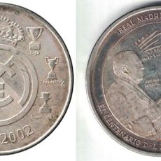 Coleccionismo deportivo: MEDALLA MONEDA REAL MADRID FIGURAS HISTORICAS - 1902-2002. - MONEDA-133. Lote 129137911