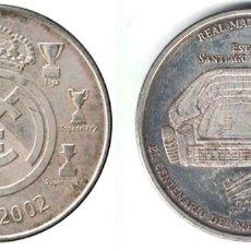 Coleccionismo deportivo: MEDALLA MONEDA REAL MADRID - ESTADIO SANTIAGO BERNABEU - 1902-2002. - MONEDA-143. Lote 129139523