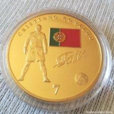 Coleccionismo deportivo: MONEDA CRISTIANO RONALDO PORTUGAL / ESCUDO REAL MADRID CR7. Lote 134008026