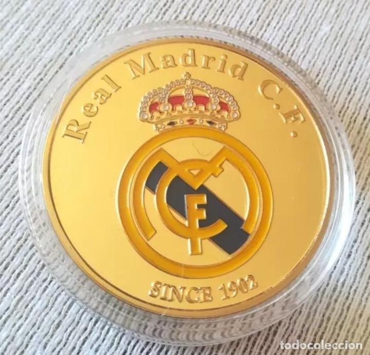 Coleccionismo deportivo: Moneda Cristiano Ronaldo Portugal / escudo Real Madrid CR7 - Foto 2 - 134008026