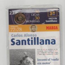 Coleccionismo deportivo: MONEDA DEL REAL MADRID-23-LIGA 1977-78-CARLOS ALONSO SANTILLANA-30 LIGAS-30 MONEDAS-MARCA. Lote 134711122