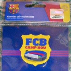 Coleccionismo deportivo: MEDALLA F. C. BARCELONA, CONTIENE BAÑO DE PLATA. Lote 140798642