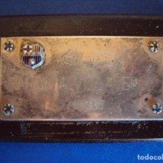 Coleccionismo deportivo: (F-181134)PLACA HOMENAJE A RAMON VILLAVERDE, C.F.BARCELONA, ARCHIVO JAUME RAMON DIRECTOR MUSEU F.C.B. Lote 141788154