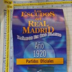 Coleccionismo deportivo: MEDALLA MONEDA INSIGNIA. LOS ESCUDOS DEL REAL MADRID CLUB DE FÚTBOL. ESCUDO 1920. PRECINTADO. 40 GR. Lote 142344826