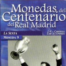 Coleccionismo deportivo: MONEDA DEL CENTENARIO DEL REAL MADRID - LA SEXTA - BAÑADA EN PLATA. Lote 143332218