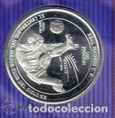 Coleccionismo deportivo: MONEDA DEL CENTENARIO DEL REAL MADRID - LOS PICHICHI - HUGO SANCHEZ - BAÑADA EN PLATA - Foto 3 - 143332346