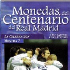 Coleccionismo deportivo: MONEDA DEL CENTENARIO DEL REAL MADRID - LA CELEBRACION - BAÑADA EN PLATA. Lote 39763312