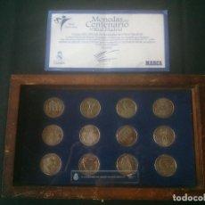 Coleccionismo deportivo: COLECCION COMPLETA DE MEDALLAS-MONEDAS DEL CENTENARIO DEL REAL MADRID 1902-2002.. Lote 144061382