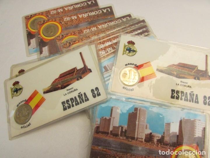 Coleccionismo deportivo: 24 unidades La Coruña m-82 moneda oficial 1 peseta - Foto 4 - 145688134